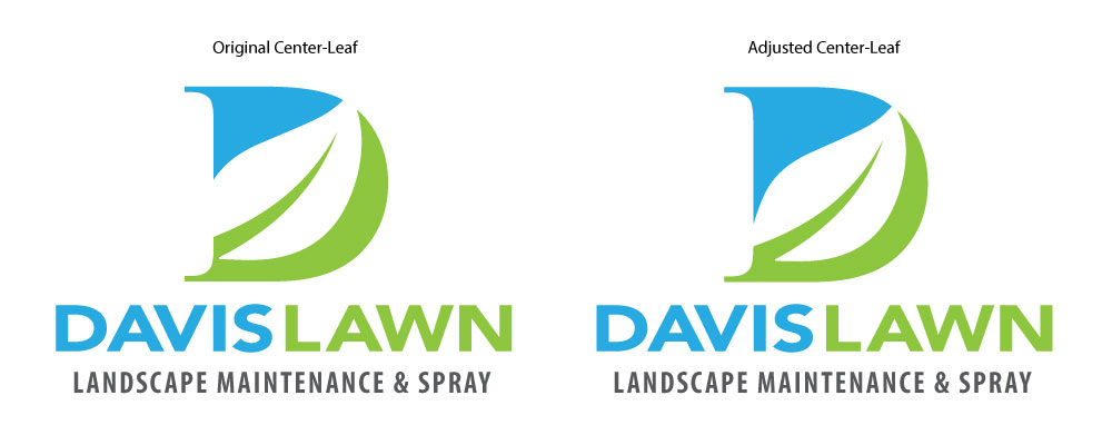 davis lawn logo adjustment