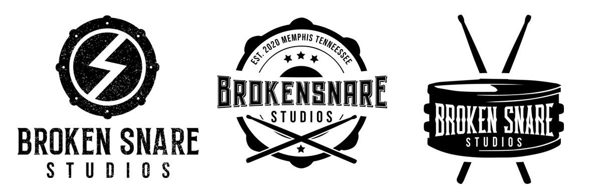 Broken Snare Studios logo comps
