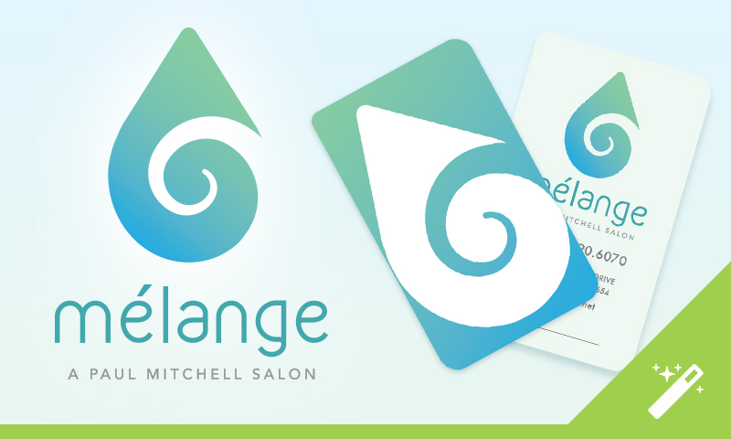 Logo Design: Melange Salon