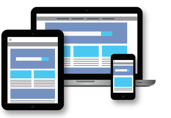 example image of how a smart responsive web site works